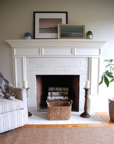 fireplace painted annie sloan chalk paint brick