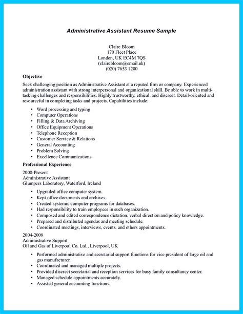 writing entry level administrative assistant resume understand