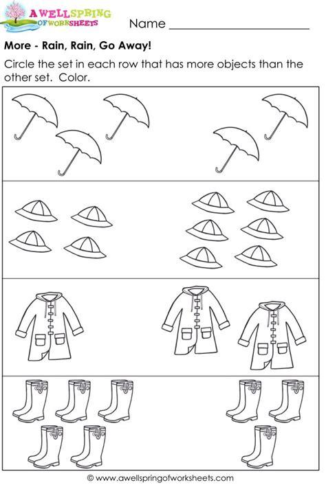 worksheets compare numbers compare sets kinder pinterest rain