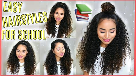 4 buildable school hairstyles naturally curly hair lana