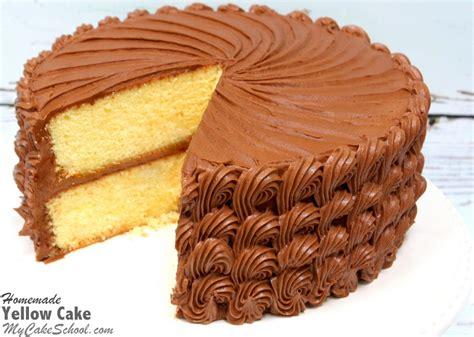 yellow cake scratch recipe cake school