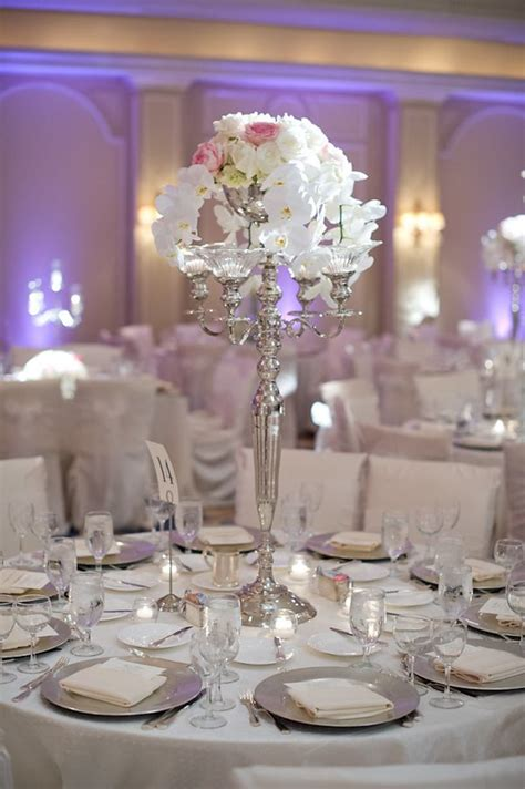 posts centerpieces table decor silver wedding decorations wedding