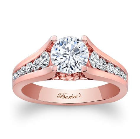 barkev rose gold engagement ring 7940lpw