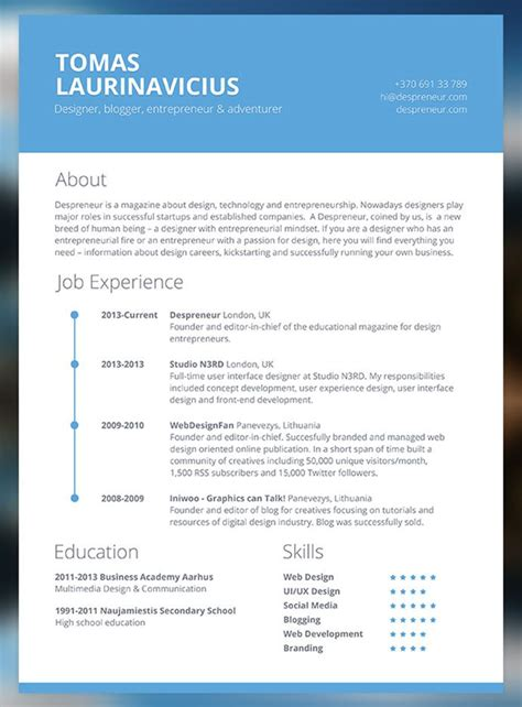 30 free cv resume templates html indesign resume