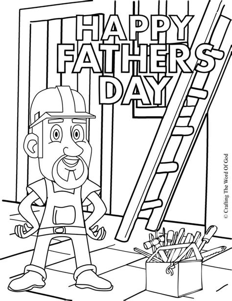 happy fathers day 1 coloring page crafting word