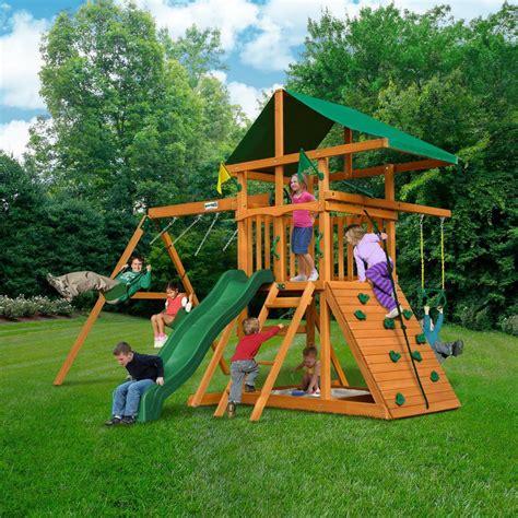 gorilla outing iii cedar outdoor fun kids playset