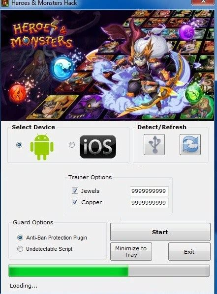search heroes monsters hack 2020 download
