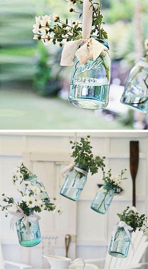 hanging vintage floral mason jars 15 diy outdoor