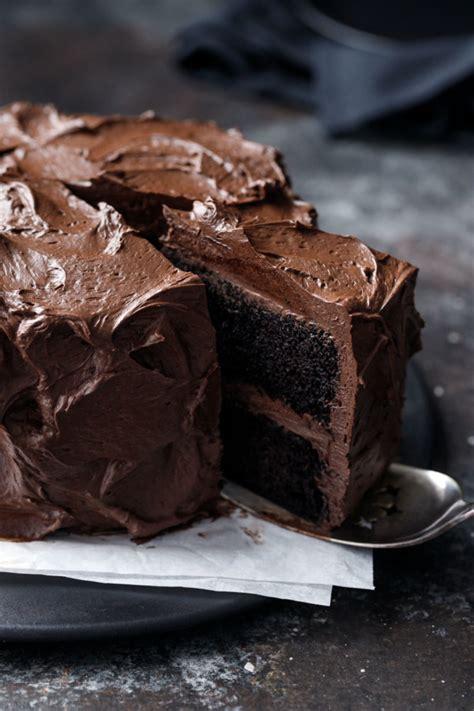 ultimate chocolate cake fudge frosting love olive oil