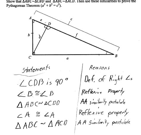 pythagorean theorem proof students asked prove worksheets sles