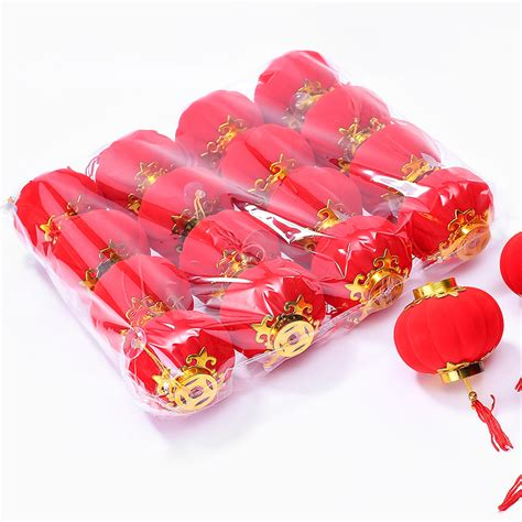 hot sale 4pcs pack red traditional chinese lanterns