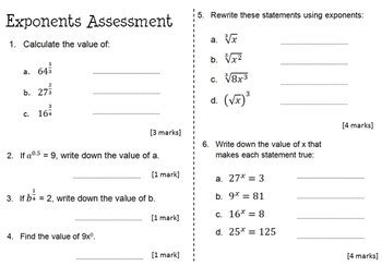 rational exponents activity worksheet assessment bundle nicola waddilove