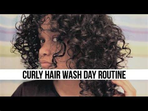curly hair wash day routine short 3b hair