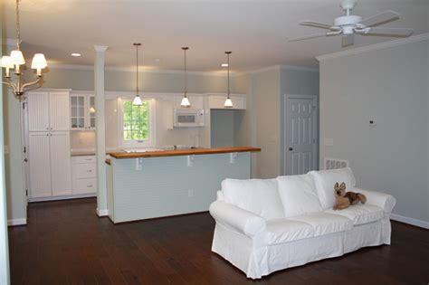 mayo lake cottage living room beadboard kitchen ikea
