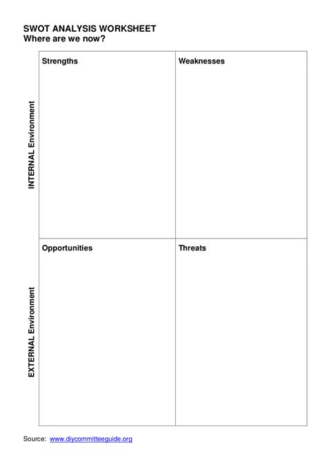 swot analysis spreadsheet 7 free swot analysis templates