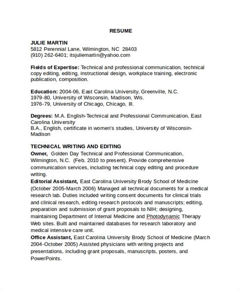 sle copy editor resume 7 free documents download