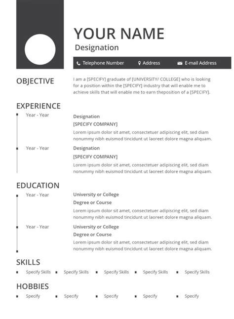 47 resume formats doc free premium templates