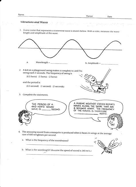 physics due wed feb 16 waves vibrations worksheet