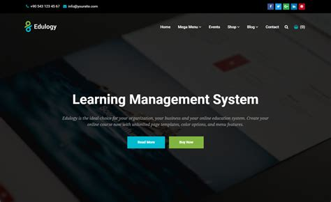 edulogy free html education template create websites school