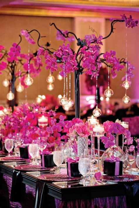 pink wedding ideas elegance wedding centerpieces magenta wedding