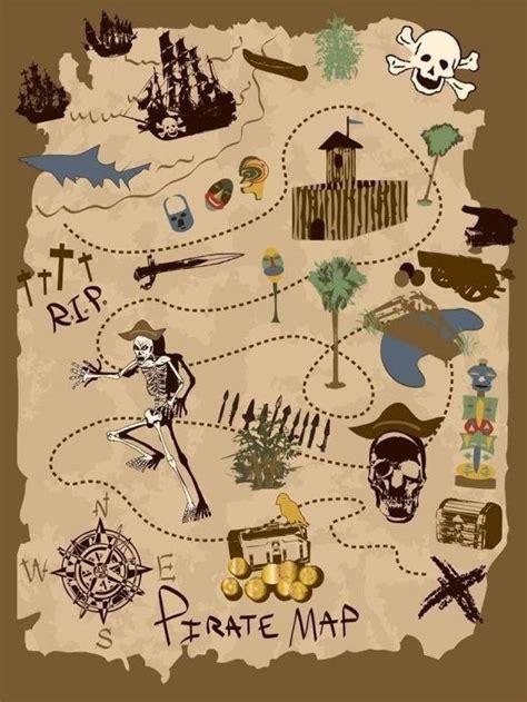 pirate treasure map wall decals unique accessory