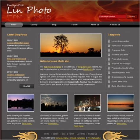lin photo free website templates css html js