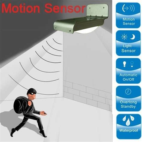 solar wall outdoor sensor motion infrared induction led
