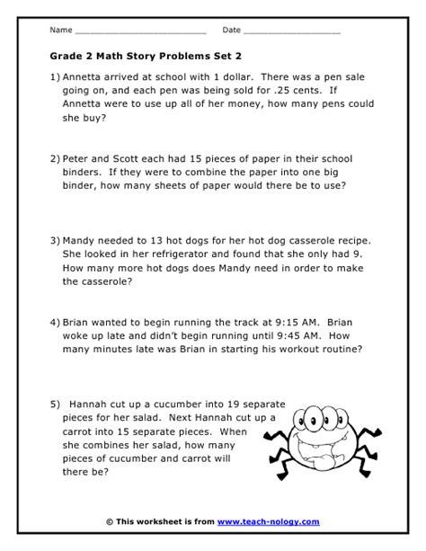 grade 2 word problems set 2