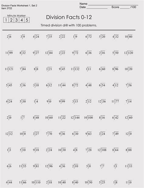 printable division worksheets grade 4 6 free downloads