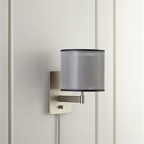 shop eclipse silver wall sconce contemporary wall sconce