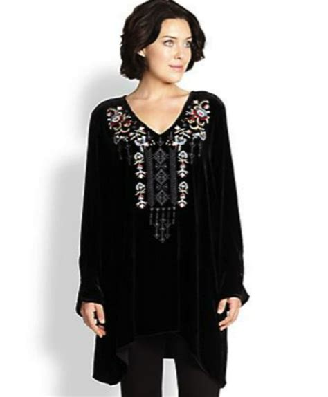 johnny size velvet tunic boho fashion 40