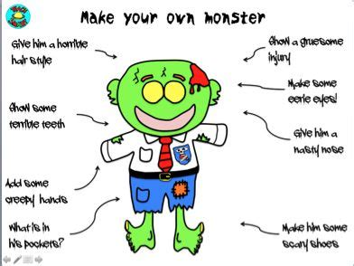 monster science scavenger hunt activities body parts jays