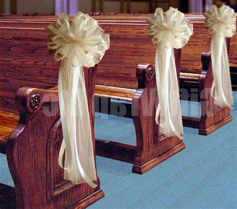 church pew flowers wedding decorations church wedding decorations