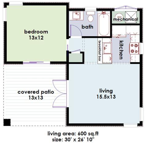 studio600 modern guest house plan d61 600 house