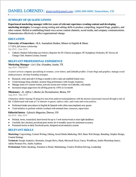 Resume Font Size And Line Spacing.html