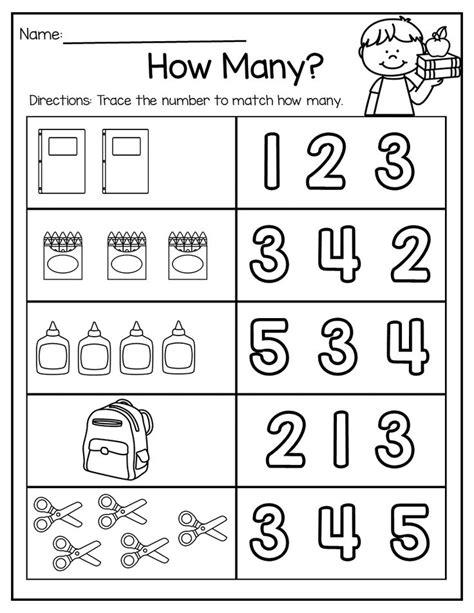school math literacy packet kindergarten math worksheets preschool