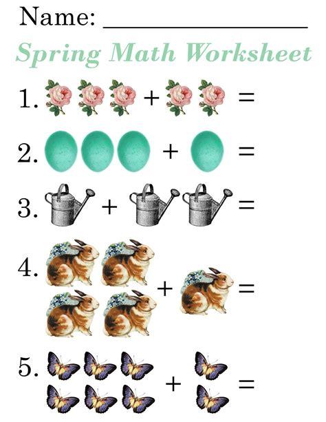lilac lavender kids spring math worksheets