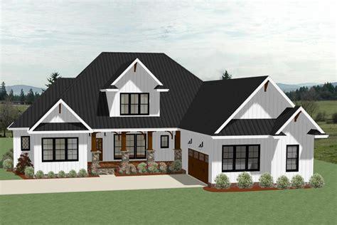 farmhouse house plan 4 bedrms 3 5 baths