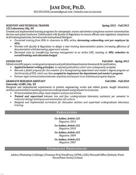 phd resume scientist training biosciences