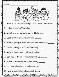 free october printables 2nd grade writing halloween worksheets