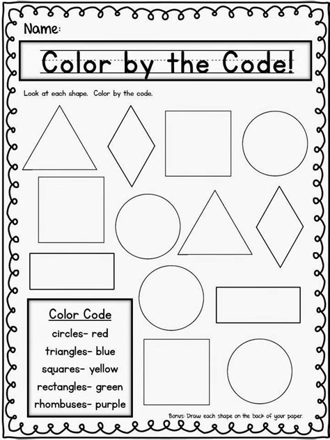 shapes thursday freebie kinderland collaborative pinterest math kindergarten
