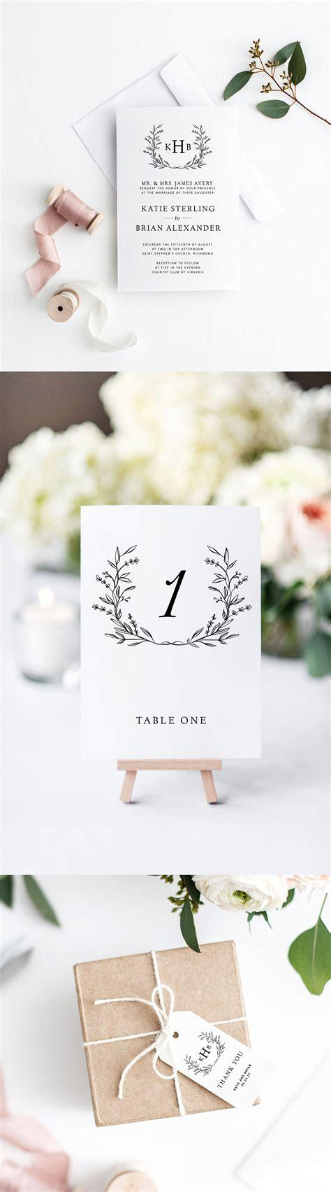 wedding invitation suite printable wedding invitations wedding invitation