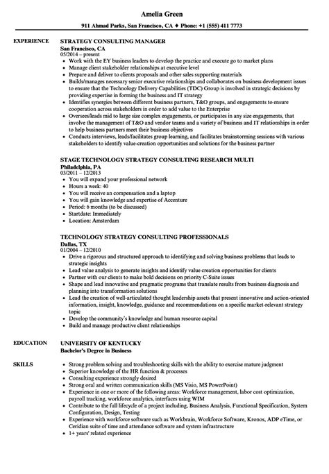 resume sle strategy consultant strategy consultant resume