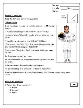 grade 2 reading comprehension tests english reading writing