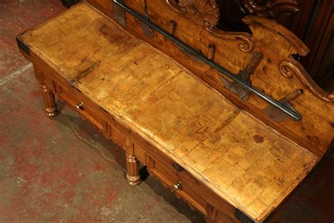 large 19th century french butcher block antique meat