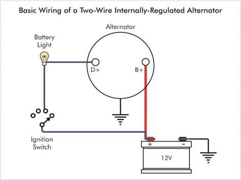 1 wire alternator wiring diagram wiring forums