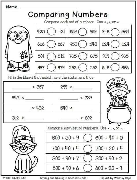 halloween math grade 2nd grade math worksheets