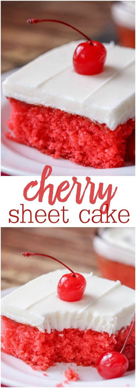 cherry sheet cake moist cherry jello cake topped