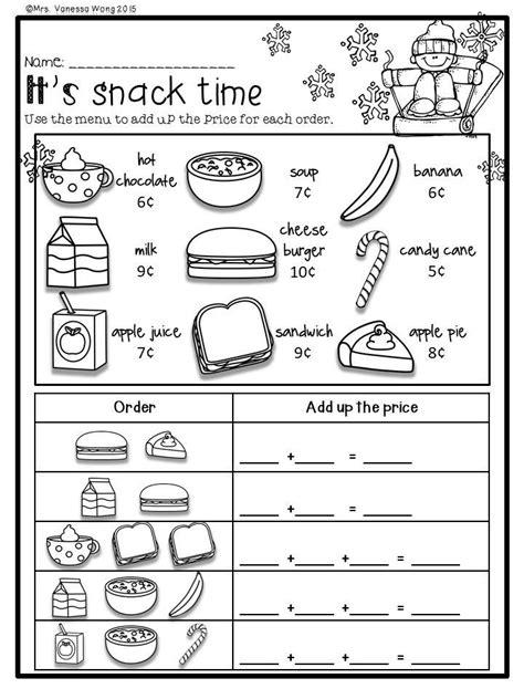 winter math literacy pack grade worksheets activities fun
