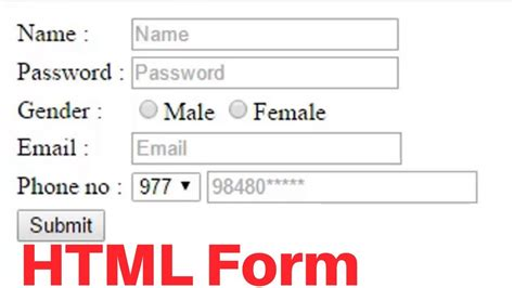 create registration form html easy step youtube